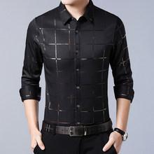 Miacawor новые мужские рубашки клетчатая Повседневная рубашка с длинными рукавами рубашки Slim Fit Camisa Masculina мужская одежда C493(China)