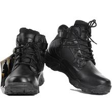 Зимние мужские военные армейские ботинки кожаные дезерты рабочая обувь Прочные ботильоны Мужская Армия Botas tacticos Zapatos(China)