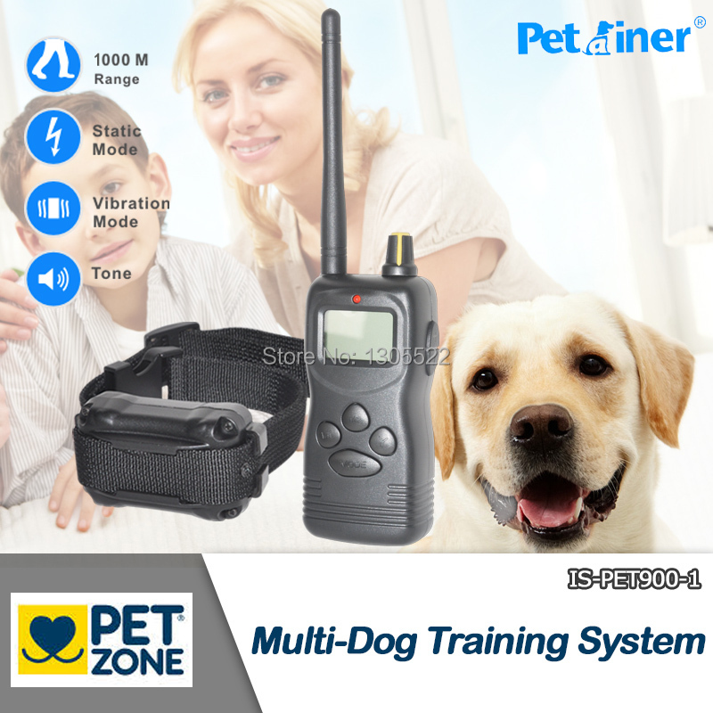 Free shpping hot sell electric remote control pet dog training collar system with lcd display 1000M(China (Mainland))