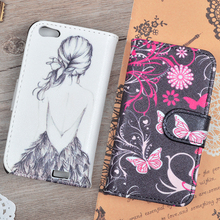 For HTC One V T320E Cute Printing Pattern PU Leather Wallet Case Cover Phone Bags With Stand Function And Card Slots In Stock(China (Mainland))