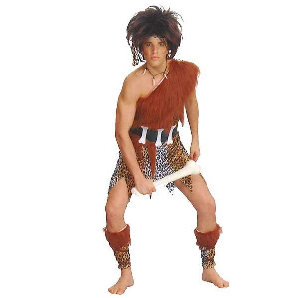 5F99002 Unique Adult Men's Halloween Costumes Free shipping Funny Caveman Costumes(China (Mainland))