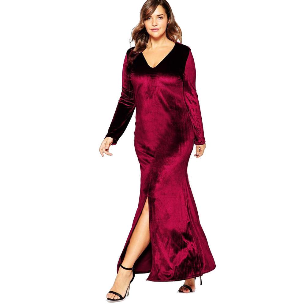 Plus Size Velvet Dresses 70