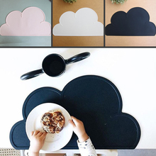For Baby Tableware Mat Kitchen Accs 47.5cm*27cm Utensil Mats Heat Resistent Silicone Cloud Shaped Placemat(China (Mainland))
