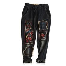 Buy 2017 Ethnic Style Jeans Harem Pants Women Trousers Casual Plus Size Loose Vintage Denim Pants High Waist Jeans Women Vaqueros Y2 for $32.44 in AliExpress store