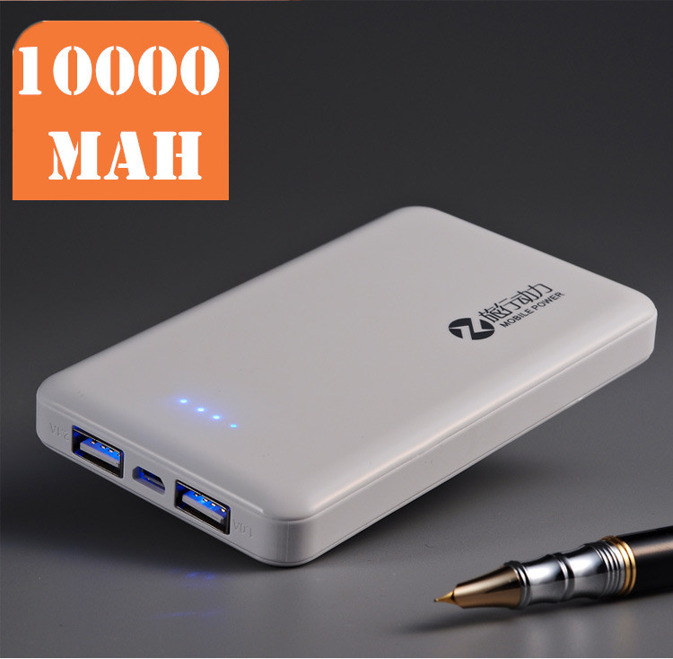 10000 mah powerbank 2 port portable power charger external cellphone Battery Pack Backup battery power for cellphone and tablet(China (Mainland))