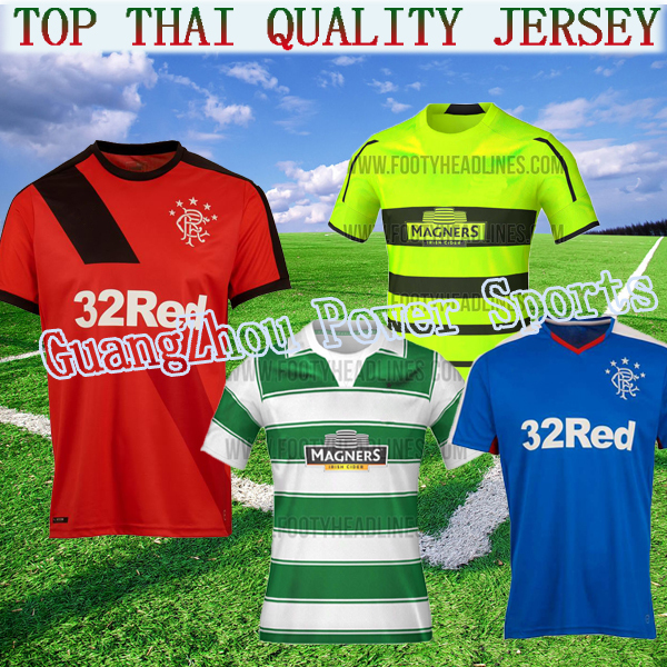 The Bhoys 15 16 Rangers soccer jersey new 2015 2016 football shirts home away CLARK FOSTER LAW 7 Glasgow(China (Mainland))