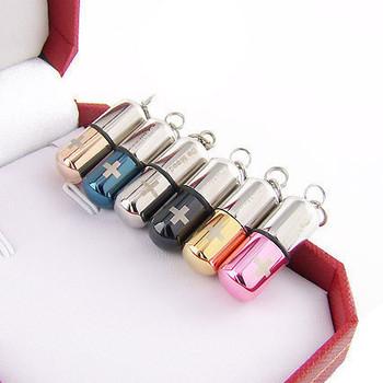 Poison lovers titanium steel necklace the spokesman 's de mood pills pendant
