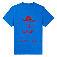 The Walking Dead T-Shirt – Keep Calm And Stay With Rick Grimes Short Sleeve Men Cotton Tee
