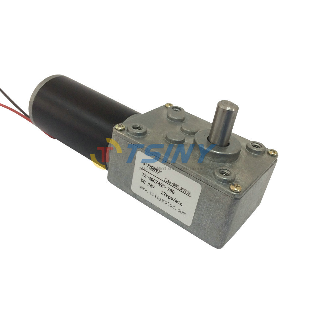 Electric gear motor 24v 27rpm worm gear motor dc gear for Electric motor with gear reduction