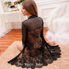 Free shipping L486 new arrival good quality lace women's robe black sleepwear 2 piece bath clothes cutout  lingerie(China (Mainland))
