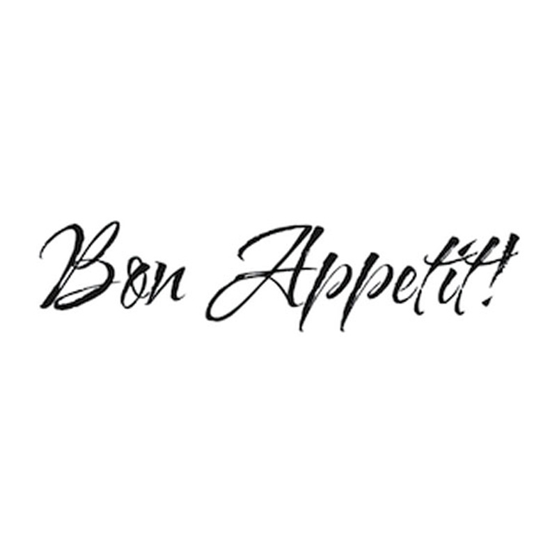 Bon Appetit French Style Wall Decal Removable Art Calligraphy Home Decor PVC Walls Sticker 59x14cm