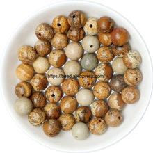Envío Gratis Piedra Natural roja Lisa Jaspers cuentas redondas sueltas elegir 19 colores y tamaños para hacer joyas hechas a mano(China)