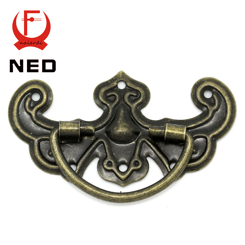 NED 30pcs Classical Bronze Tone Pattern Drawer Cabinet Desk Door Jewelry Box Pulls Handle Knobs With Furniture Hardware(China (Mainland))