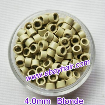 3 jars- 3000pieces/LOT BLONDE color Micro Rings with screw/thread inside for Hair Extensions