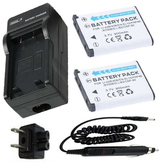 2 Battery + Charger for Fujifilm FinePix J10 J12 J15 J15fd J20 J25 J26 J27 J28 J29 J30 J32 J35 J37 J38 J40 J100 Digital Camera(China (Mainland))