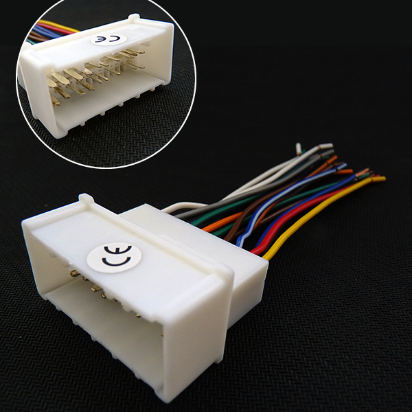 Car OEM Audio Stereo Wiring Harness Adapter For Hyundai/KIA(05~08)Install Aftermarket CD/DVD Stereo(China (Mainland))