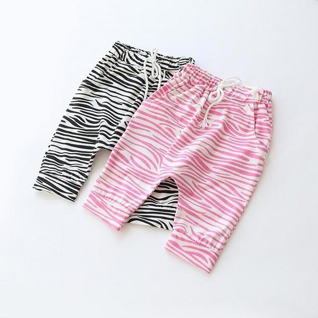 2016 летние девушки парни брюки брюки для девочки мальчик дети девушки зебра хлопковые брюки девушка брюки для детей детские 2-8Y