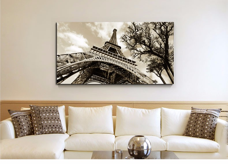 Home Decor Wall Art Canvas Painting Wall Pictures For Bedroom Quadro Cuadros Decoration Paris City Eiffel Tower No frame(China (Mainland))