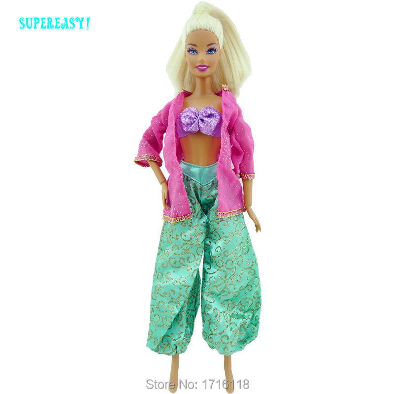 5 Units Fairy Story Outfits Princess Costume Snow White Jasmine Pocahontas Garments For Barbie Doll FR Kurhn Child Toys Play Home Present