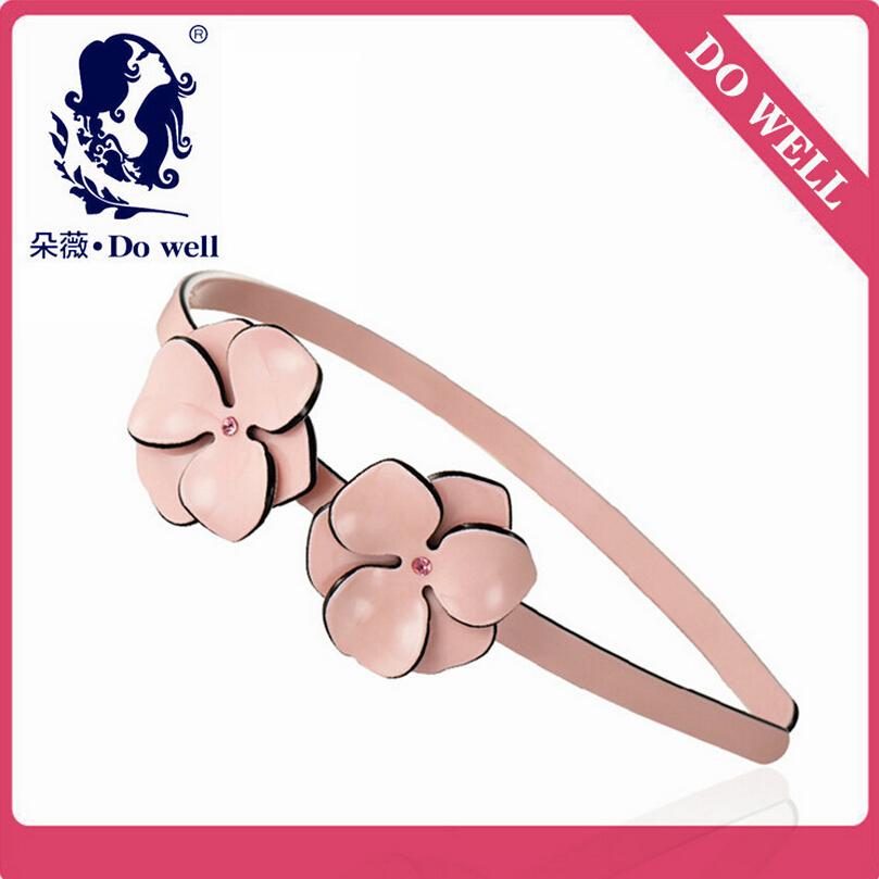 New Brand DOWELL Alexander Hairbands Pink/beige/black Camellia Bride Headband Women Girls Hair Barrette Cellulose Acetate Sheet(China (Mainland))
