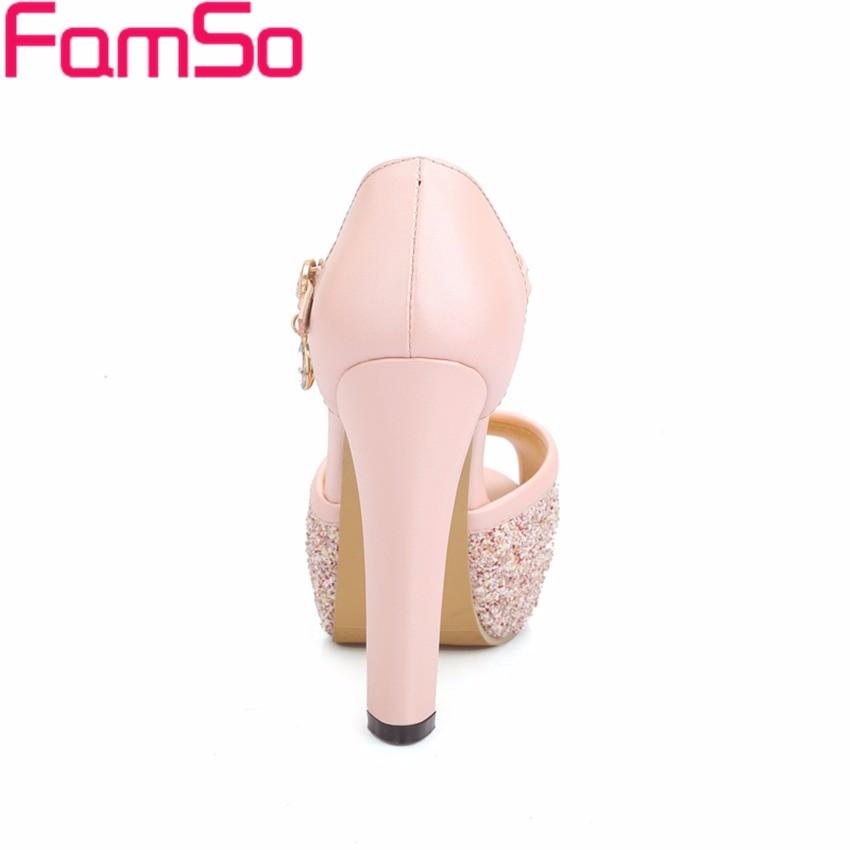 ซื้อ พลัสSize34-43 2016ใหม่ผู้หญิงรองเท้าแตะสีขาวสีชมพูพรรคG Litterรองเท้าเสื้อสายคล้องแพลตฟอร์มปั๊มรองเท้าP Eep Toeผู้หญิงของปั๊มPS2620