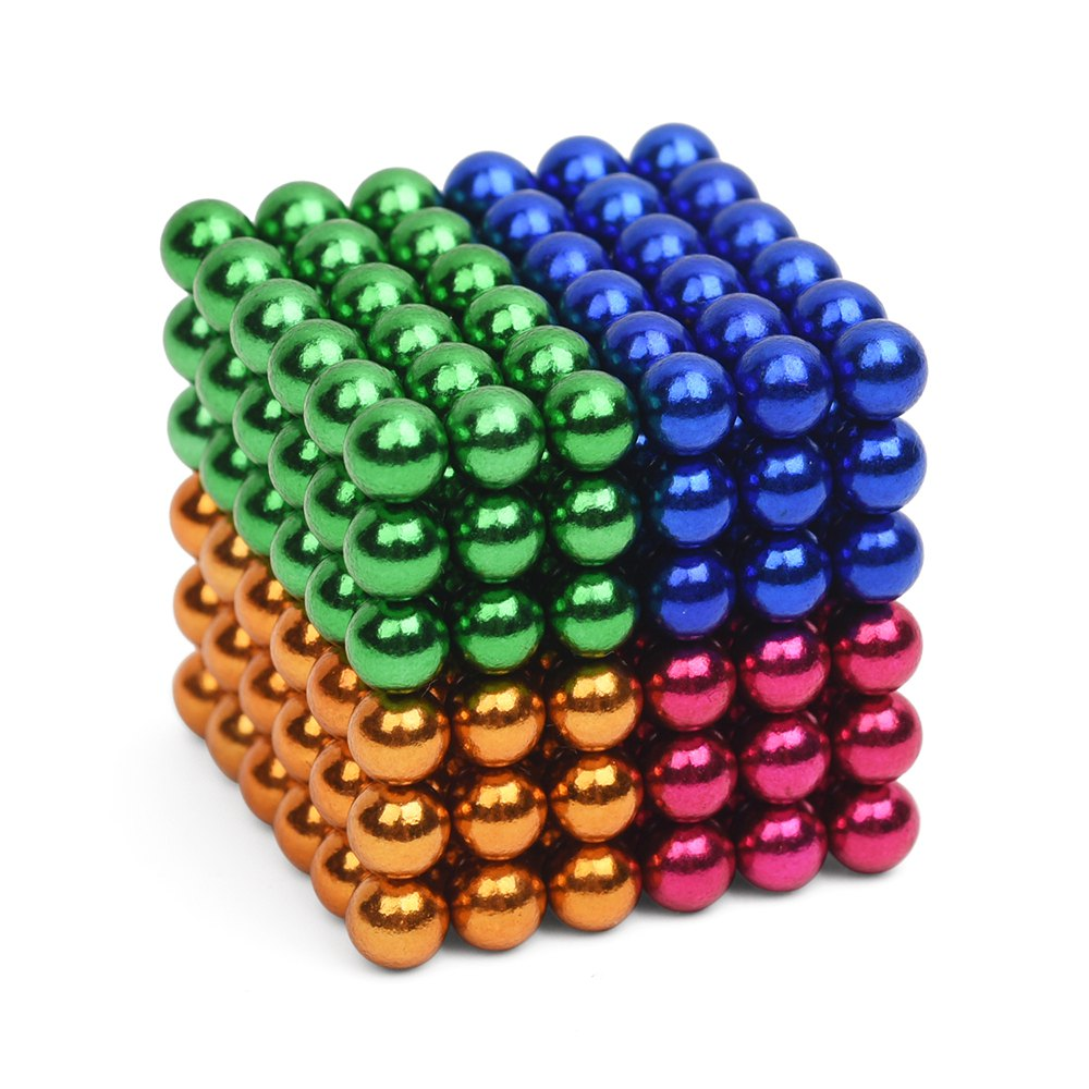 Colorful 216Pcs 5mm Magnetic Balls Magic Cube Spheres Beads Magnets Puzzle Neo Cube Magic Novelty DIY Kids educational Toys Gift(China (Mainland))