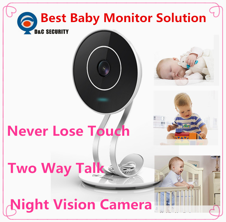 Elegant life mini baby Monitor HD audio Talk 720p video Camera Support Night Vision and TF Card for Apple Android IOS phone(China (Mainland))