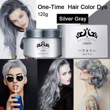 Gray Hair Color Dye Cream One-Time Temporary Hair Colouring Washable DIY Home Hair No Harm 7 Colors 120g(China (Mainland))