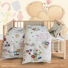3Pcs Baby Bedding Set Cotton Crib Sets Baby Cot Set Including Quilt Cover Pillowcase mattress cover Children Bed Sheet Bedspread(China)