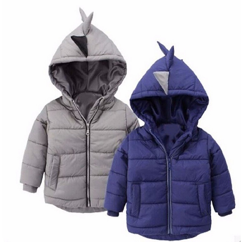 Baby winter coat Children's outerwear winter style baby Kids Clothes Boys Gilrs Dinosaur Coat Baby Boys Girls Clothes 2-6Year(China (Mainland))