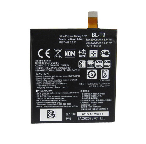 High Quality BL T9 2300mAh Li ion Polymer Battery Fit Flex Cable for LG Nexus 5