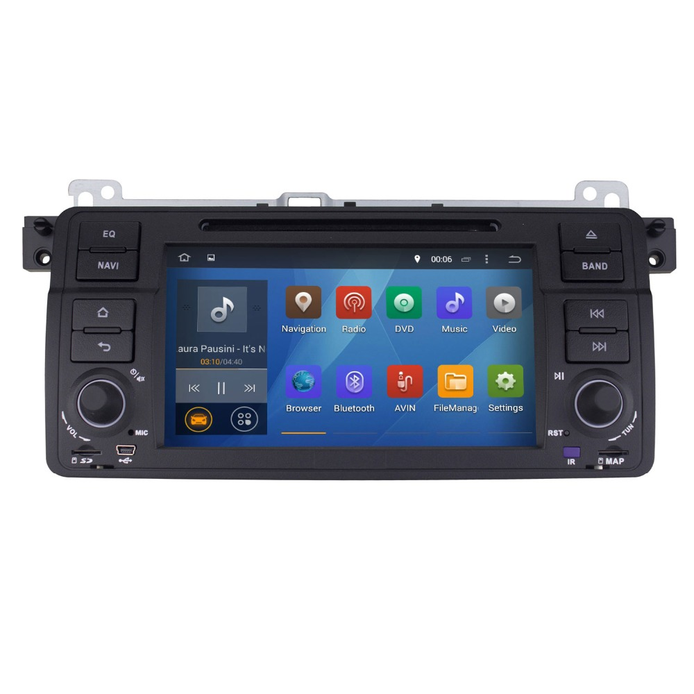 1 Din In- Dash Car DVD Player for BMW E46 Android 4.4 Car Radio Audio Stereo,1024*600 HD,Built-in Bluetooth/WIFI/GPS/RDS/Video(China (Mainland))