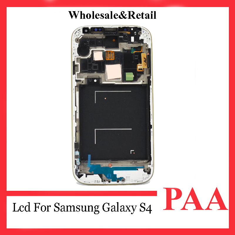 Promotion replacement display for samsung galaxy s4 i9500 i337 i545 m919 l720 r970 i9505 lcd digitizer assembly with frame