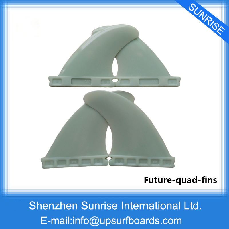 Plastic Surfboard Fin Future Quad Fins Free shipping(China (Mainland))