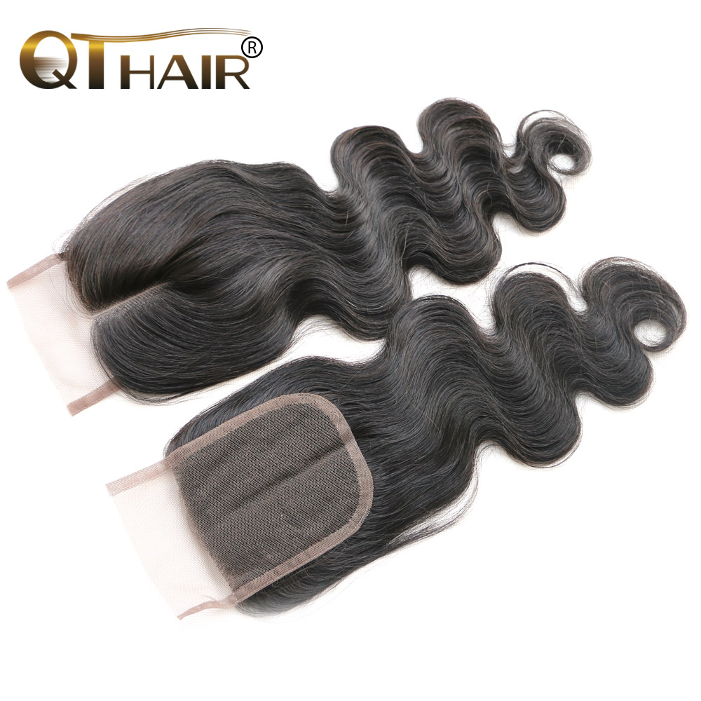 Malaysian Virgin Hair Lace Top Closure Swiss Lace Unprocessed Human Hair Wigs Queen Hair Lace Closure 4*4 Part Shipping Free<br><br>Aliexpress