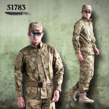 The new 51,783 authentic outdoor second-generation tactical military A-TACS camouflage combat uniforms suit male field service