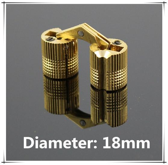 Гаджет  10pcs/lot 18mm Brass cylindrical hinge hidden furniture hinge invisible installation hinge None Мебель