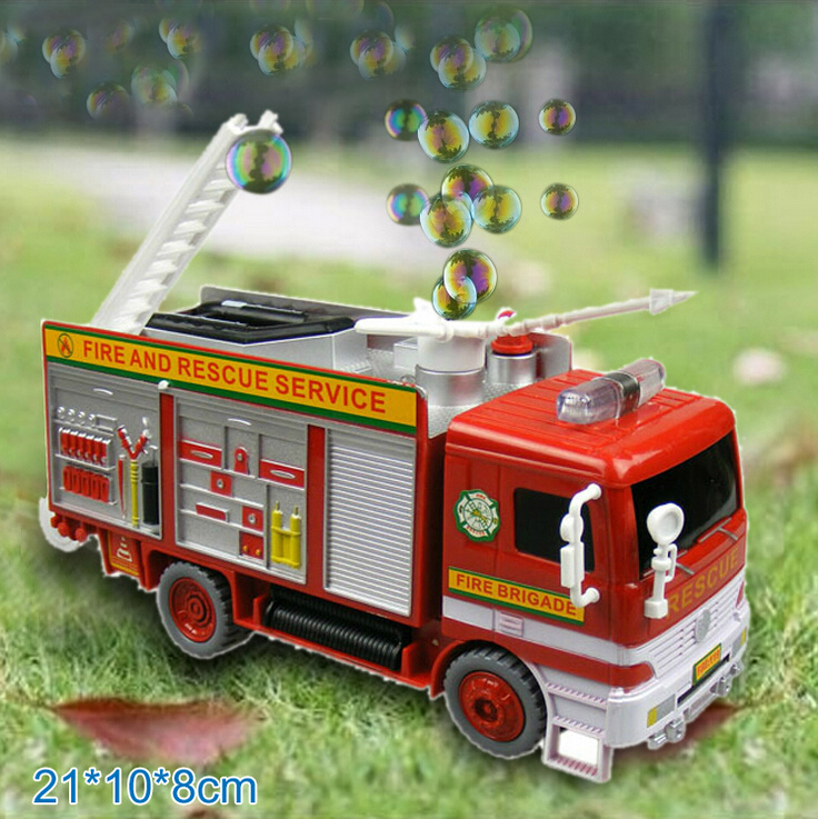 Free shipping Baby toy car electric bubble car toy fire truck automatic bubble machine band music car toys(China (Mainland))