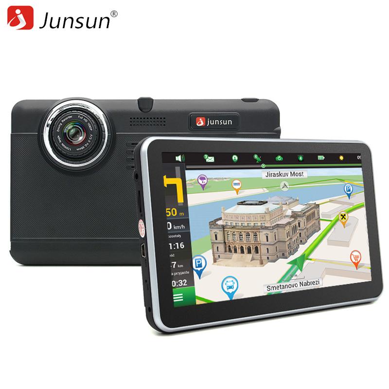Junsun 7 inch Car DVR GPS Navigation Android tablet pc Bluetooth wifi fhd 1080p Camera Recorder Vehicle gps automobile navigator(China (Mainland))