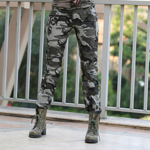 New Design Summer camouflage pants women fashion Casual sports outdoor Loose Sport  Cargo pants women Military GK-9522B Z15(China (Mainland))