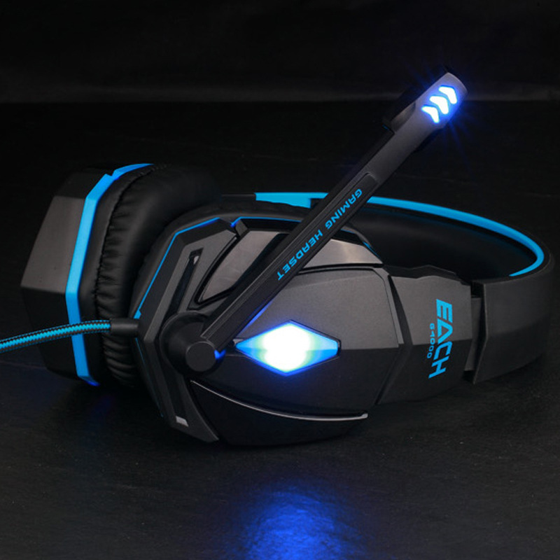 EACH G4000 Anti-noise Dazzle Lights Stereo Gaming Headset for PC Gamer Ecouteur Glow Headphones with MIC USB+3.5mm Audio Cable<br><br>Aliexpress