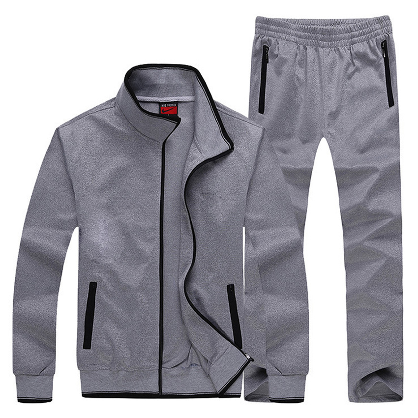 Free shipping Spring tide men's casual long-sleeved track suit men's sportswear sportswear outdoor piece(jacket and pant) 88cy(China (Mainland))
