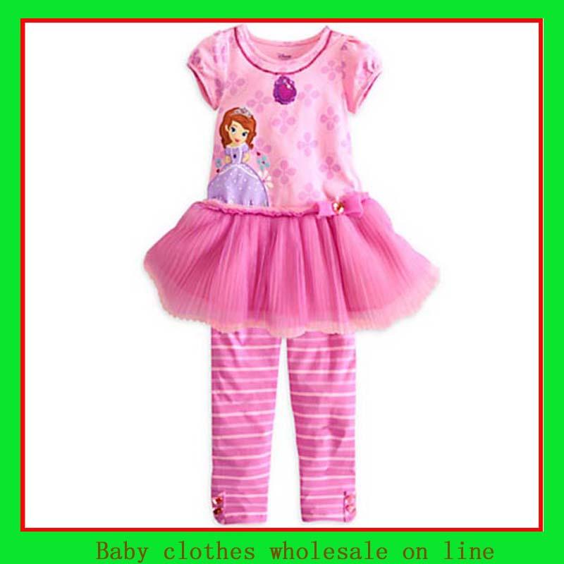 I love pink set t shirt summer 2013+girl long pants ...