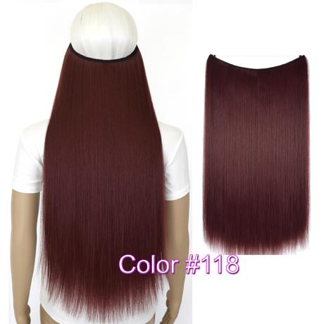 """Верхние термостойкие B5 синтетические волосы 20 """"50 см 50 г эластичность невидимая 118"""