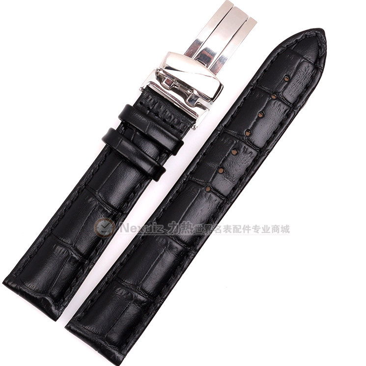 Watchband ,High-quality Leather,Men Watch Accessories 19 20 21 22mm Fit Brand Watch Strap Belt,Black Brown,with white thread Hot<br><br>Aliexpress