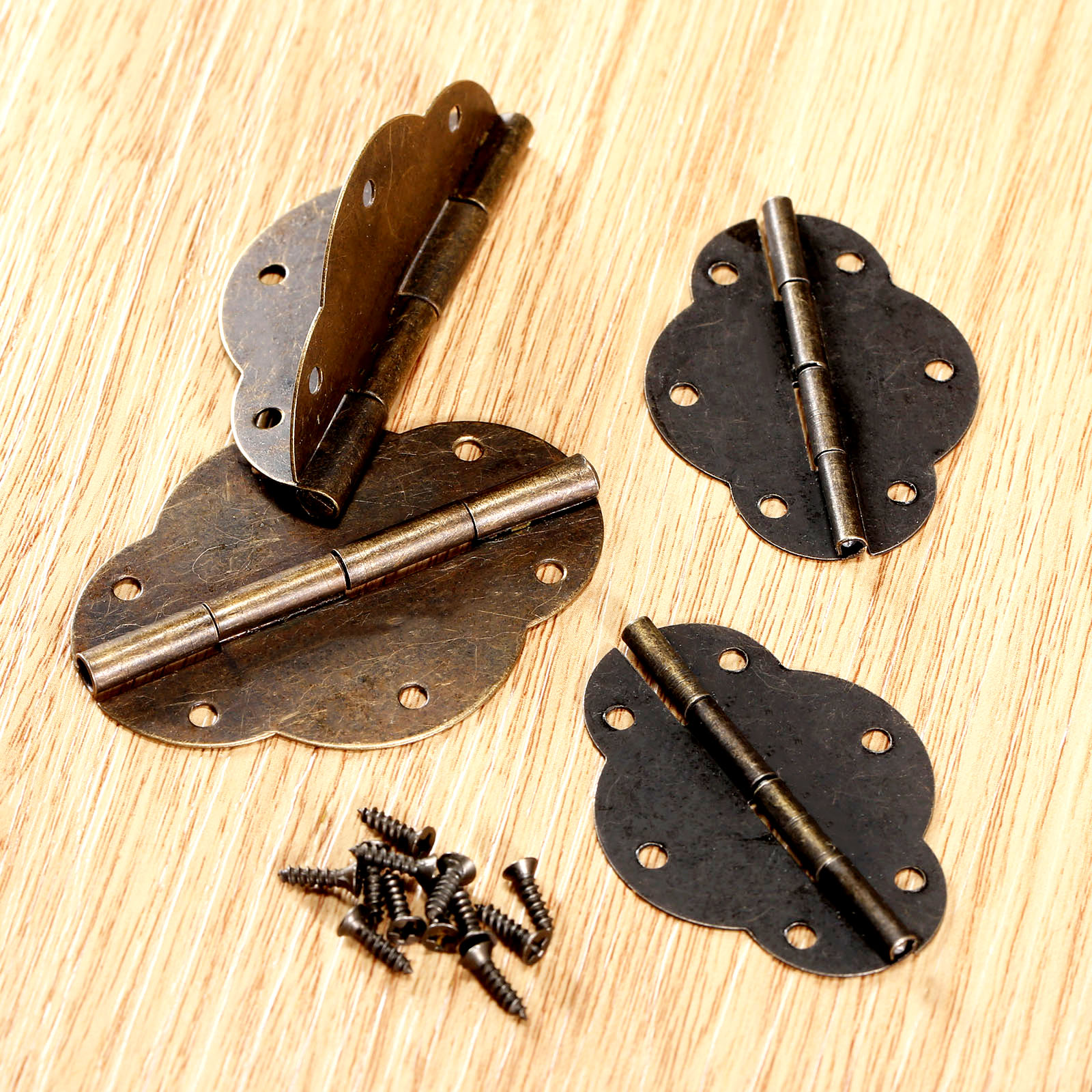 2Pcs Antique Bronze Cabinet Hinges Door Butt Hinge Furniture Accessories Wood Box Hinges Fittings For Furniture +Screws(China (Mainland))