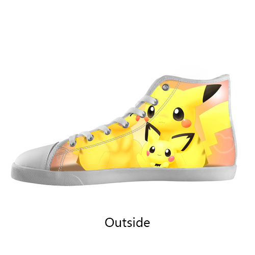 new style shoes pikachu high top canvas shoes