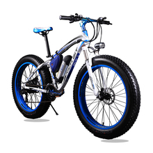 Electric 21 Speed Mountain Bike – White and Blue