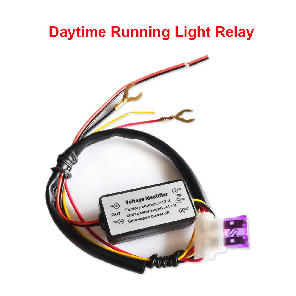Car LED DRL Relay Daytime Running Light Relay Harness Auto Car Controller On/Off Switch Parking Light Fog Light car styling(China (Mainland))