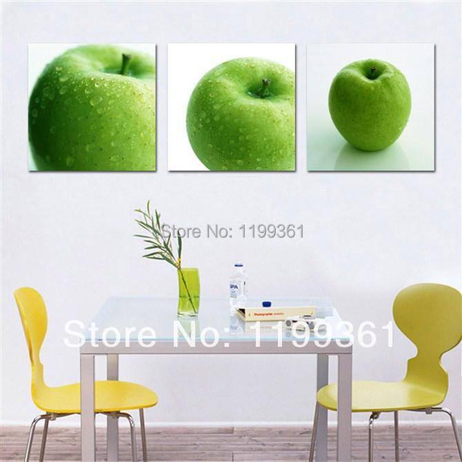 Keuken Decoratie Appel : verzending moderne muurschildering grote keuken decor groene apple